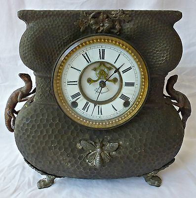 Antique Nicholas Muller & Sons Eight Day Mantle Clock - Rare