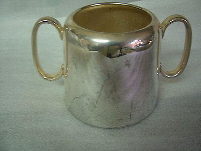 Large Silver Plated Viners HOTEL SUGAR BOWL 3.5inTall4inDiaBase513gms