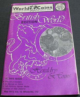 World Coins 1973 Irish Coloony Heroes Medal, St. George On Coins +