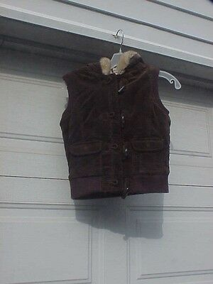 Old Navy Suede Hooded Vest Youth Size Xl