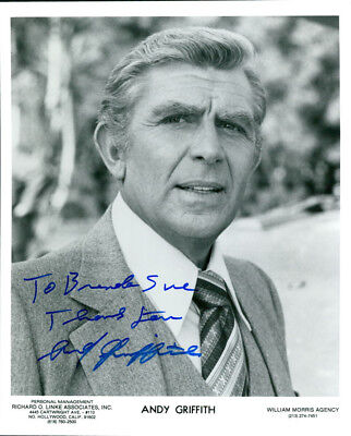 Andy Griffith  (Vintage, Inscribed) signed photo COA