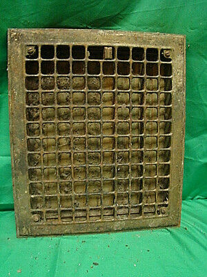 Vintage 1920S Iron Heating Grate Square Design 14 X 12 Jhv