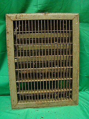 Vintage 1920S Iron Heating Grate Rectangular Design 16 X 12 C