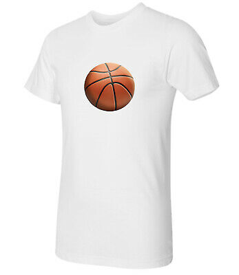 1906C Basketball graphic printed on Adult/'s T-shirt 3D puffy ball Tee for Men