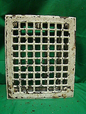 Vintage 1920S Iron Heating Grate Square Design 11.75 X 9.75 Jh