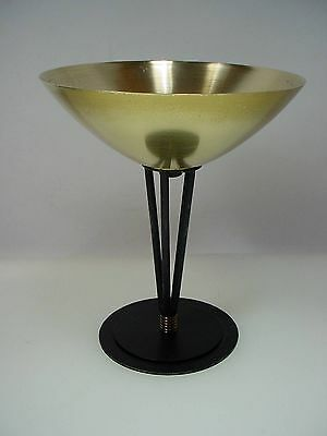 HOLM SORENSON BRASS IRON FOOTED DISH BOWL MID CENTURY MODERN 60's