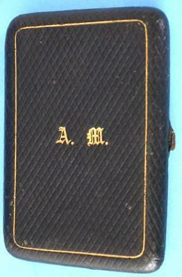 Unusual Antique Victorian Card Coin Purse Monogram AM
