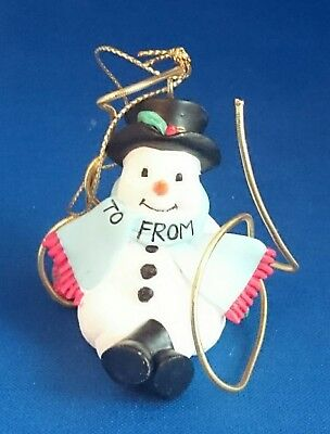 3 Avon Gift Collection Package Toppers SNOWMAN 2001 Christmas