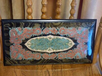 exotic wood inlay marquetry wall plaque Sorrento Italy Gargiulo & Jannuzzi