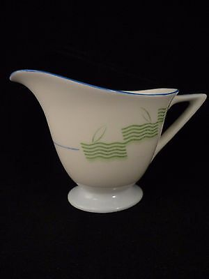 Royal Doulton Lido Pattern Milk Jug C1930's Green Blue Art Deco