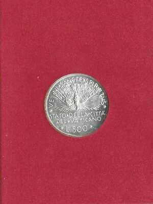Vatican City 1978 500 Lire Silver Coin Choice-Gem In Original Folder