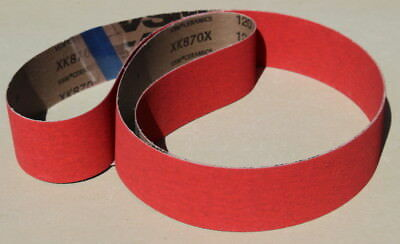 New 2 x 72 Ceramic P60 Grit Sanding Belts- Norton 3rd Gen Grain-Cerpass (5 pc)