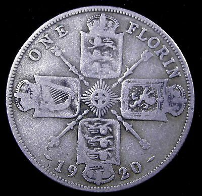 1920 (UK) One Florin Britain - Nice coin - .500 silver
