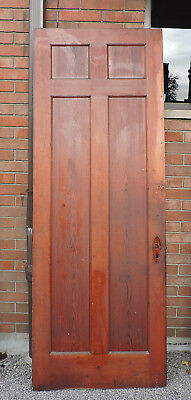 "1800's VICTORIAN ITALIANATE art deco INTERIOR WOOD DOOR UNPAINTED 91.5"" x 33.5"
