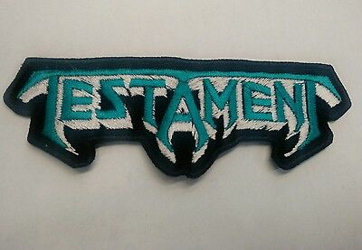 Testament Embroidered Patch Iron/sew On