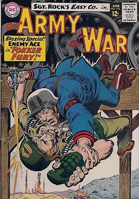Dc Sgt.rock's Easy Co. Our Army At War-No 155-Jun 1965-Blazing Special Enemy Ace