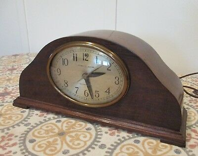 Vintage GE TELECHRON motored REVERE CLOCK Westminster Chime walnut #402