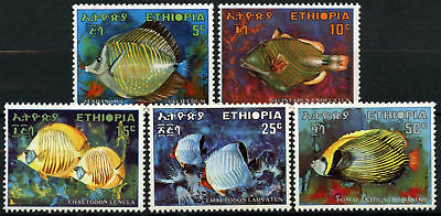 Ethiopia 1970 SG#751-5 Fishes MNH Set #D61894