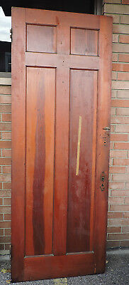 "1800's VICTORIAN ITALIANATE art deco INTERIOR WOOD DOOR UNPAINTED 91.5"" x 33.5 b"