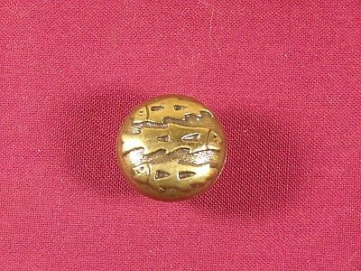 Vintage Drawer Pull Knob Keeler Brass Co Hardware Fish Cabin Cottage Rustic