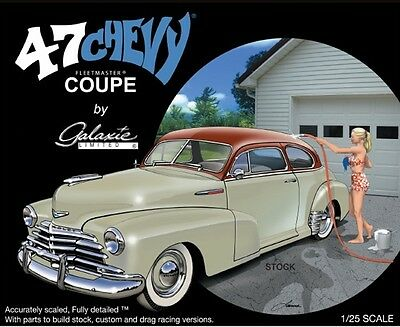 Galaxie Ltd 1:25 1947 Chevy Fleetmaster Coupe Plastic Model Kit 13031