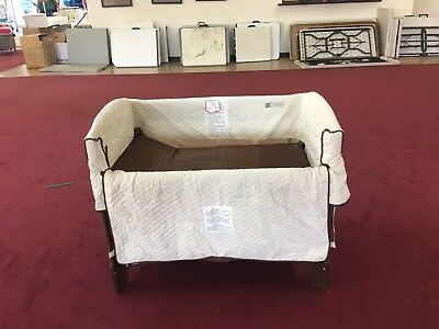 Arm's Reach Ideal Co-Sleeper  Bassinet with leg extensions, gently used, natural