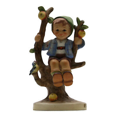 Vintage Hummel Goebel Germany Porcelain Figurine Apple Tree Boy With Bird 142