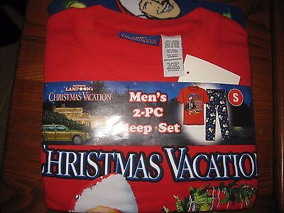 Christmas Vacation Pajamas Mens SMALL pajama set new fleece lounge pants shirt