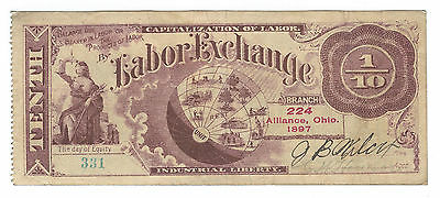 1897 Alliance, Ohio, Labor Exchange Branch 224, 1/10 Unit, Wolka 0061-06