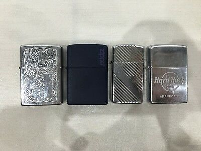 Lot of 4 Zippo Lighters Hard Rock Cafe *Rare Vintage Pieces