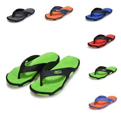Summer Soft Casual Men's Flat Wedge Sandals Thong Flip Flops Slippers Beach JA