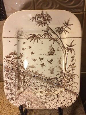 """Gildea & Walker 1880's Melbourne Late Mayers Underplate For Tureen 13"""" X 10 1/4"""""""