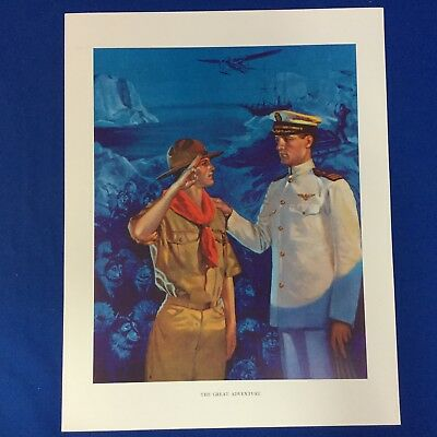 "Norman Rockwell Boy Scout Print 11""x14"" The Great Adventure"