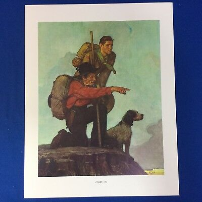 "Norman Rockwell Boy Scout Print 11""x14"" Carry On"