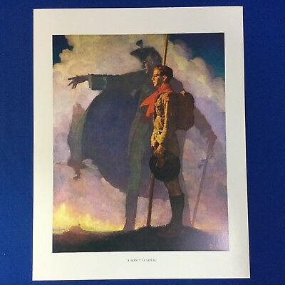 "Norman Rockwell Boy Scout Print 11""x14"" A Scout Is Loyal"
