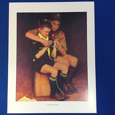 "Norman Rockwell Boy Scout Print 11""x14"" A Guiding Hand"
