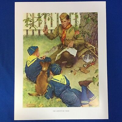 "Norman Rockwell Boy Scout Print 11""x14"" The Adventure Trail"