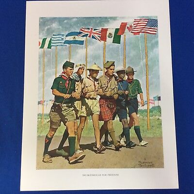 "Norman Rockwell Boy Scout Print 11""x14"" Breakthrough For Freedom"