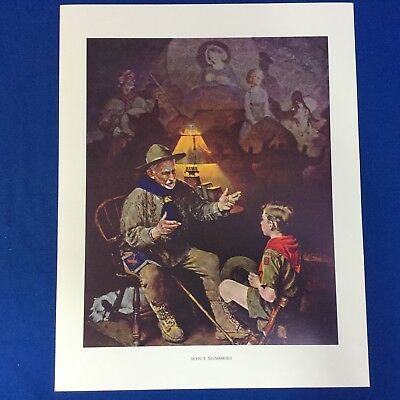 "Norman Rockwell Boy Scout Print 11""x14"" Scout Memories"