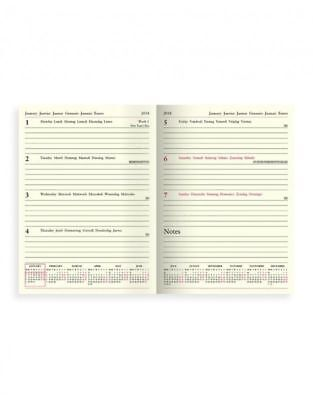 Letts Lecassa 2018 A5 Diary Week to View, Black, Postage Paid