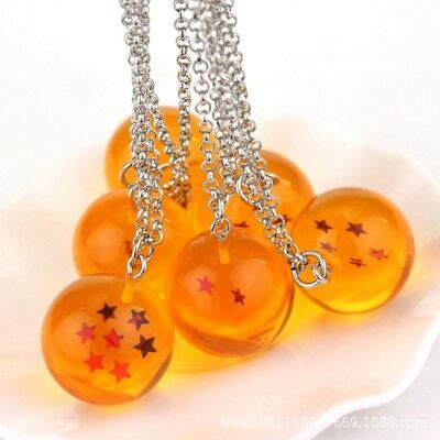 1PC Dragon Ball Z Cosplay Crystal Ball Necklace DBZ Pendant 4 Star Accessories