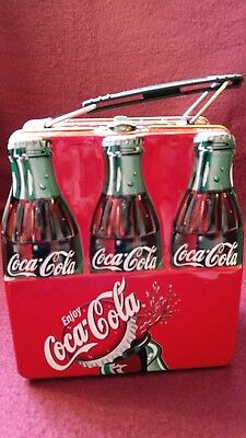 Coca-Cola Tin Lunchbox 6 Pack Used GREAT Condition