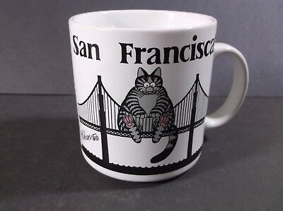 Kliban Cat San Franciscat mug 1989