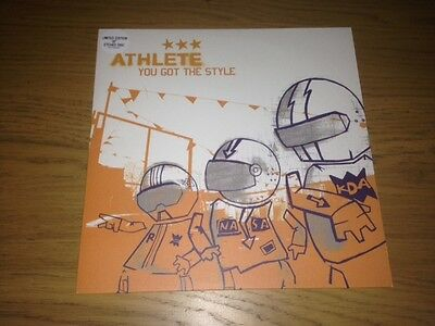 """Athlete You Got The Style 10"""" Mint Limited Edition Etched Disc Unplayed"""
