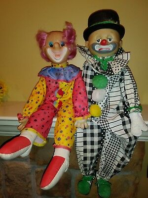 Famous Antique Large Doll Clowns Comic Hand Made Folk Art Childrens Toy