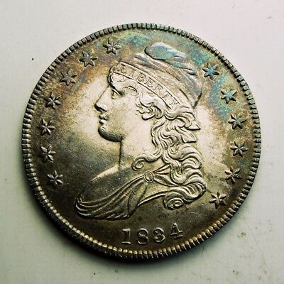 1834 capped bust U.S. silver half dollar LOOKS BRAND NEW TO ME! Neat coin!
