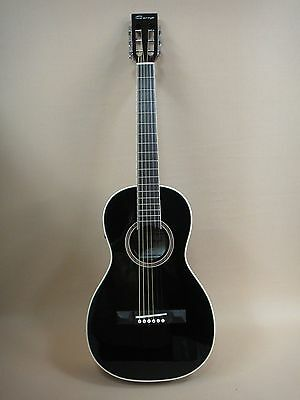 30% SLASHED! Caraya Parlor Guitar Ebony 590 with EQ  + Gig Bag