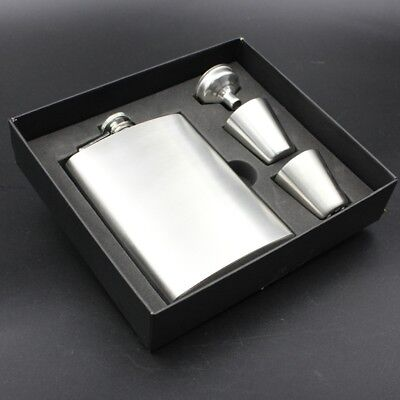 New Personalised Engraved Stainless Steel 200ML Hip Flask Gift Box