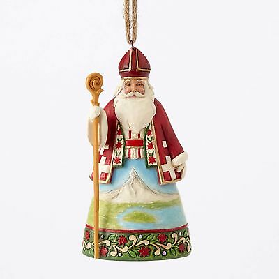 4053838 Jim Shore Christmas Ornament Santa around the World NIB Swiss
