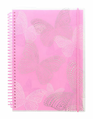 Letts Butterfly 2018 A6 Spiral Bound Diary Week to View, Pink, Free Postage